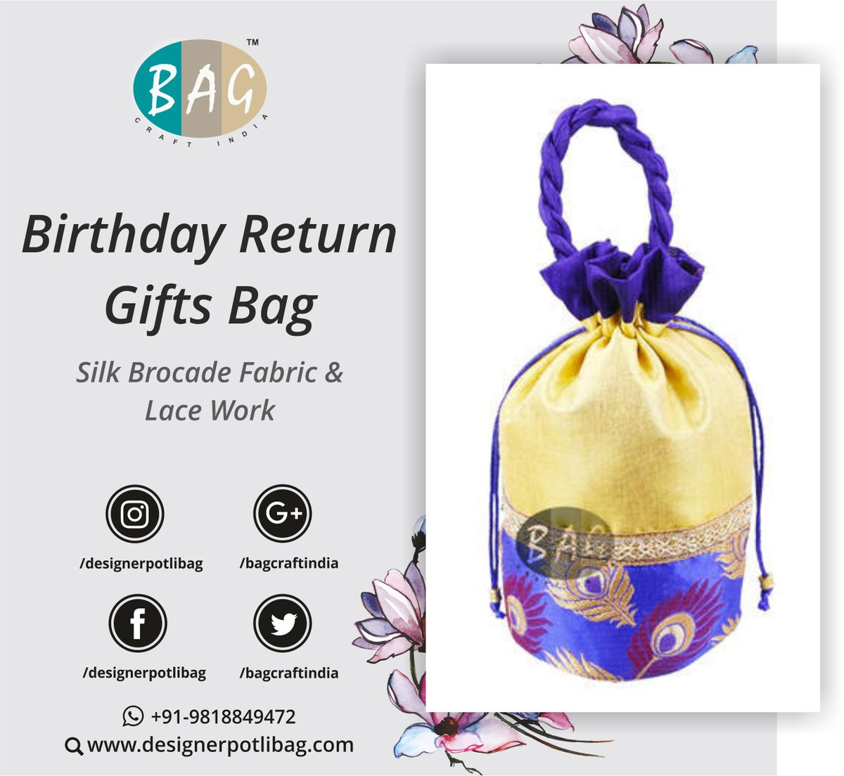 Designerpotlibag Product Birthday Return Gifts Bag Call Or Whatsapp 91 9818849472 PotliBag Giftpictwitter