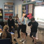 Image for the Tweet beginning: Sixth-graders enjoy learning about Mesopotamia,