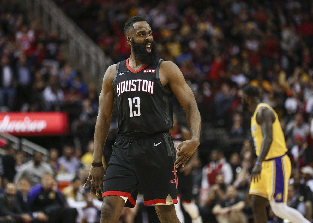 Harden's 50-point triple-double leads #Rockets over Lakers https://t.co/ug02uBR9UB (Photo: @usatsimg) #HTownRush