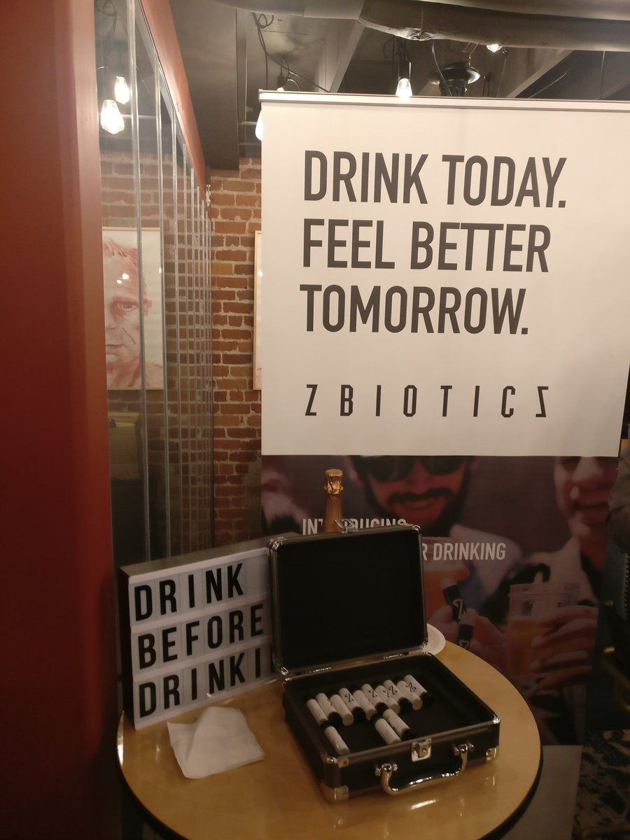 Use @ZBioticsCompany before party for no hangover in the morning. #friendlyadvice