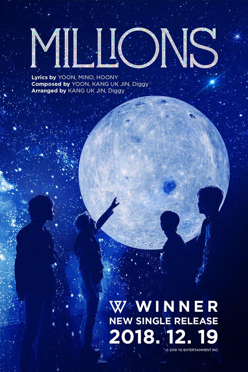 #WINNER 'MILLIONS' CREDIT POSTER  New Single Release ✅ 2018.12.19  #위너 #NEW_SINGLE #MILLIONS #COMINGSOON #20181219 #YG