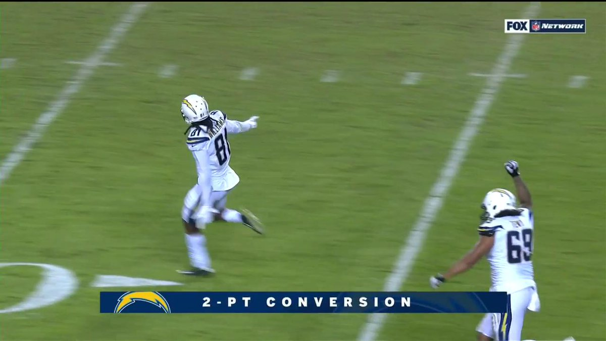 Los Angeles Chargers stun Kansas City Chiefs, creating virtual first-place tie in AFC West