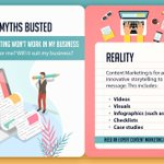 Image for the Tweet beginning: CONTENT MYTHS BUSTED  #MYTH4: CONTENT