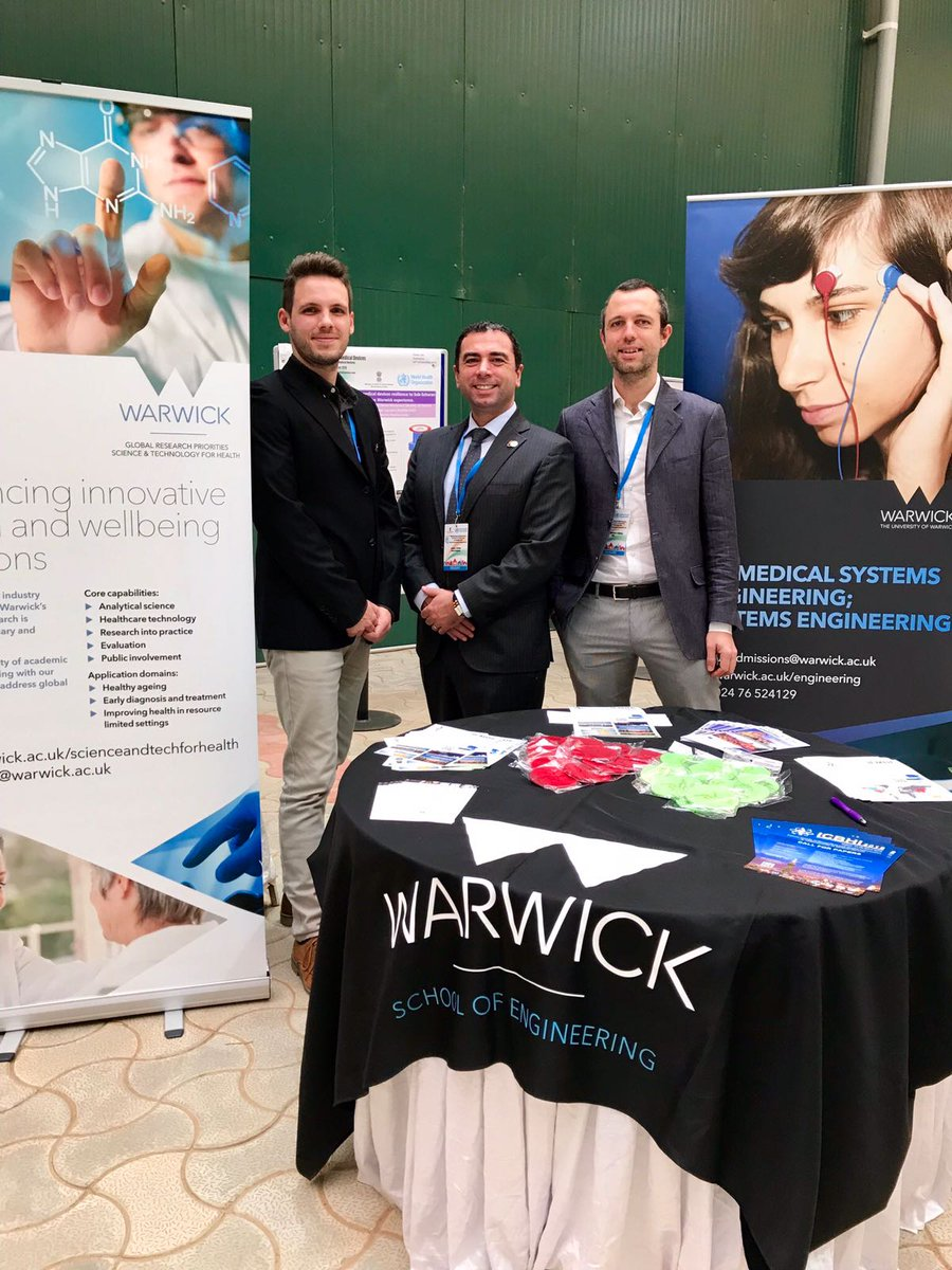 Representing the  @WarwickEngineer, @WarwickHealth and @warwickuni great effort to face #GlobalHealth challenges at the .@WHO #4GFMD