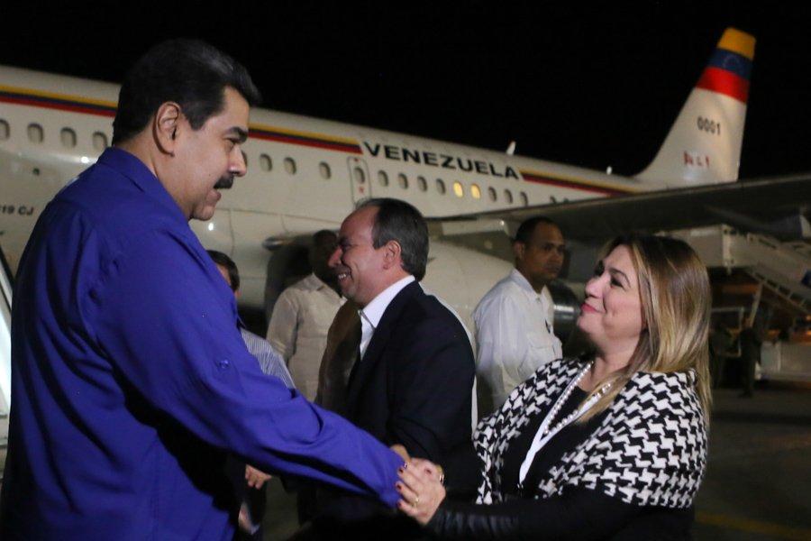 Llegó a Cuba presidente de Venezuela Nicolás Maduro (Video)