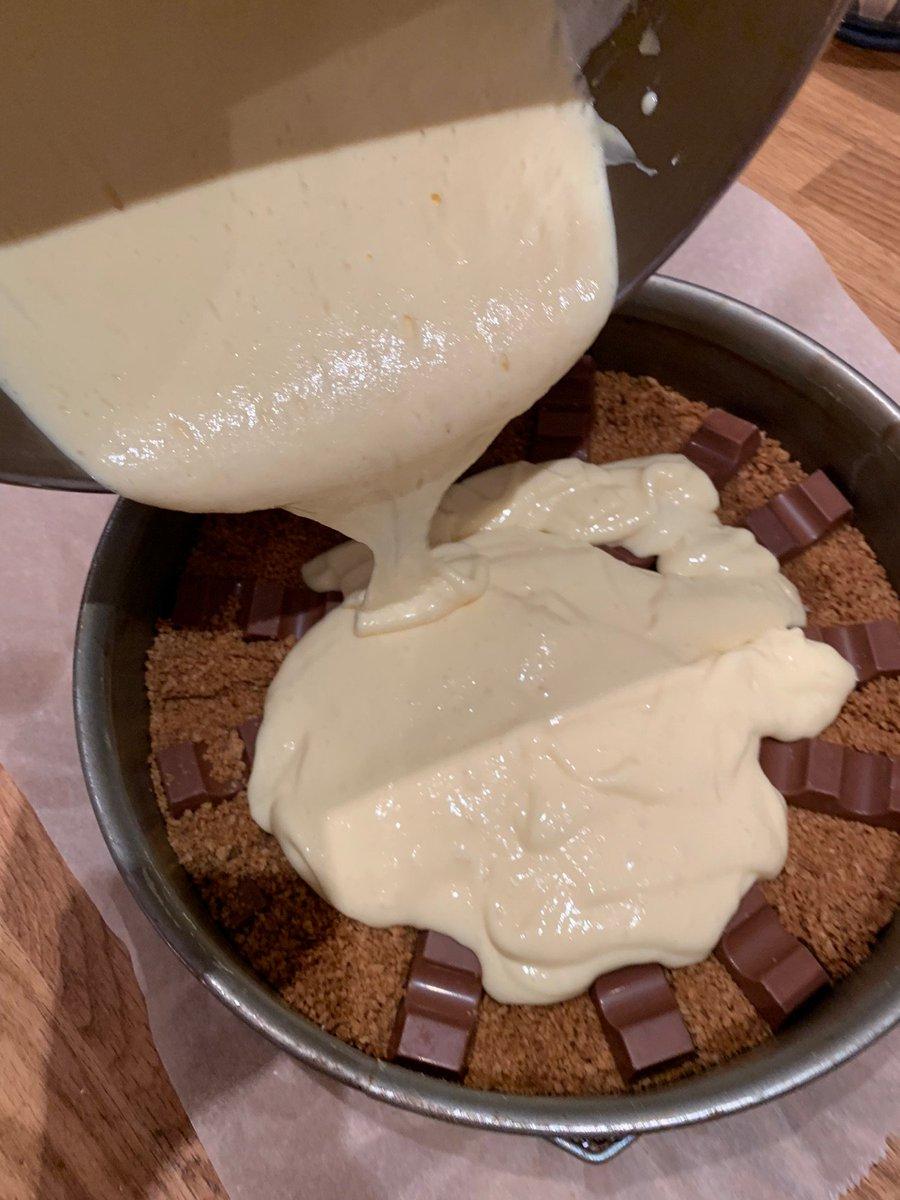 käsekuchen mit kinderschokolade