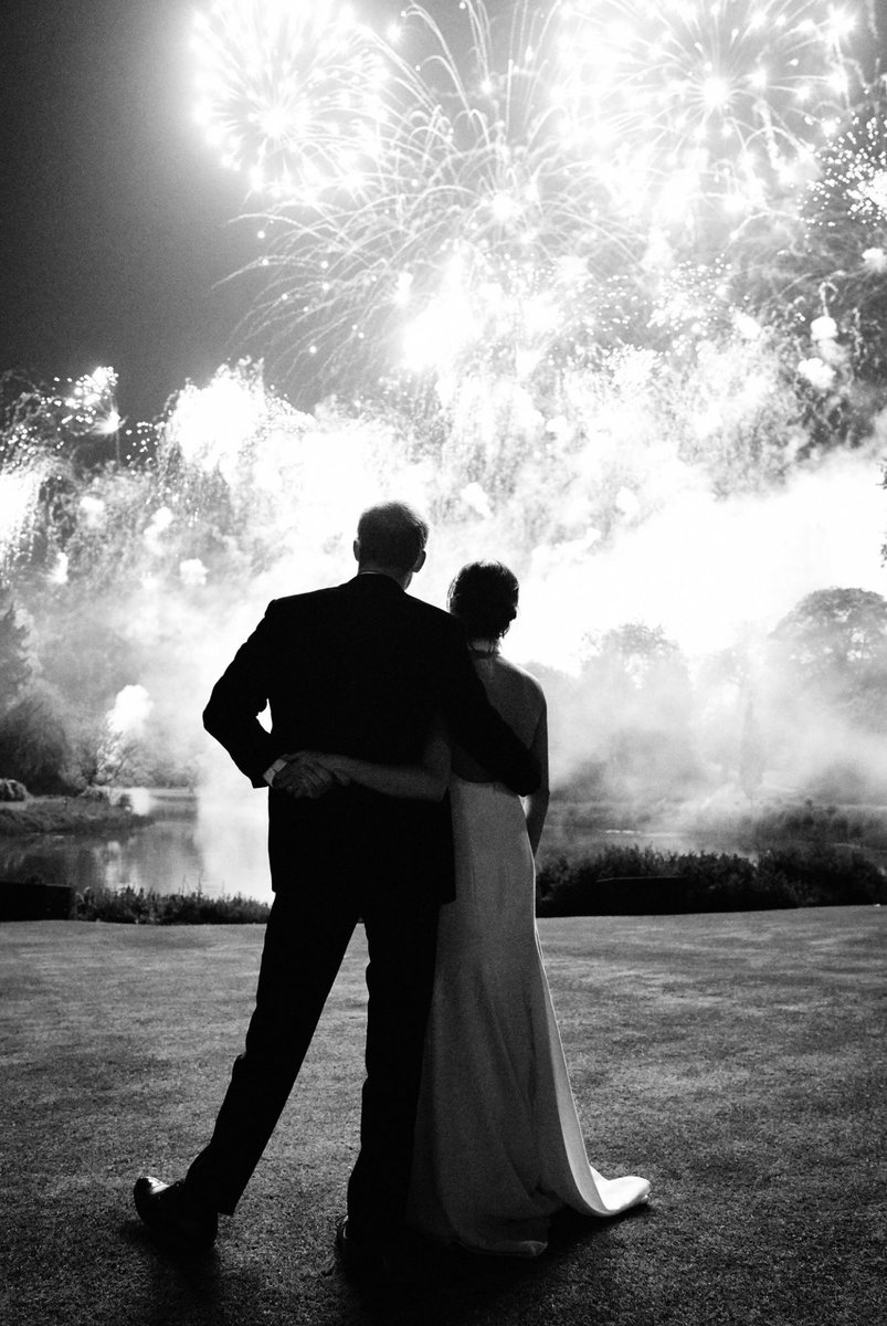 The Duke and Duchess of Sussex share a new photograph from their Wedding Reception at Frogmore House on 19th May. The photograph, which was taken by photographer Chris Allerton, features on Their Royal Highnesses' Christmas card this year.
