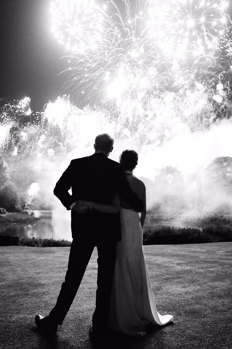 The Duke and Duchess of Sussex are delighted to share a new photograph from their Wedding Reception at Frogmore House on 19th May. The photograph, which features on Their Royal Highnesses' Christmas card, was taken by photographer Chris Allerton.