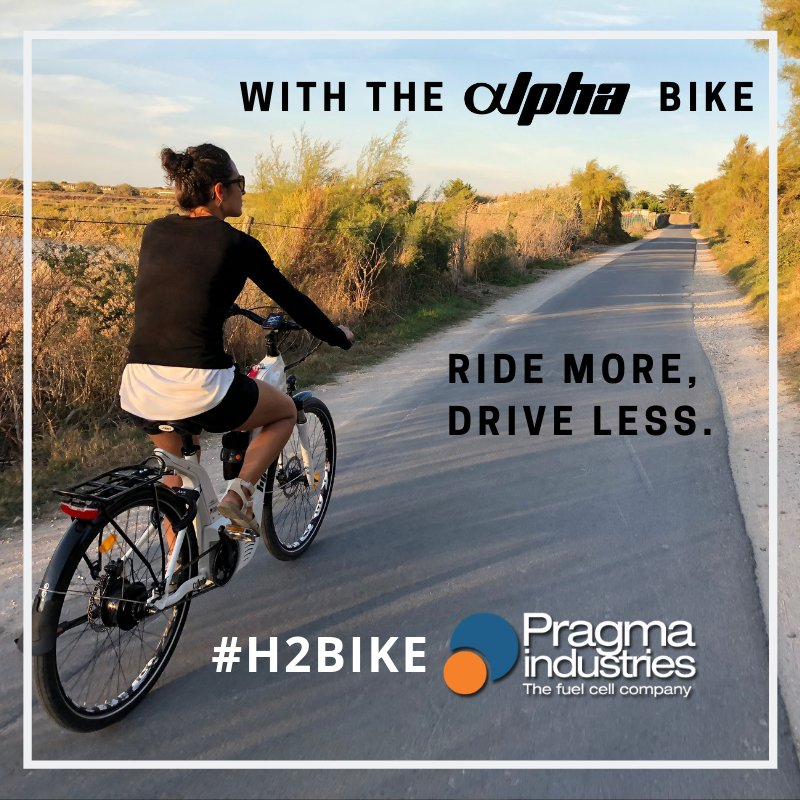 With the Alpha bike @PragmaFuelCells ride more,drive less 🚴♀️ #H2BIKE #smartmobility #ecomobility #environment #bike #Fahrrad #hydrogen #fuelcell