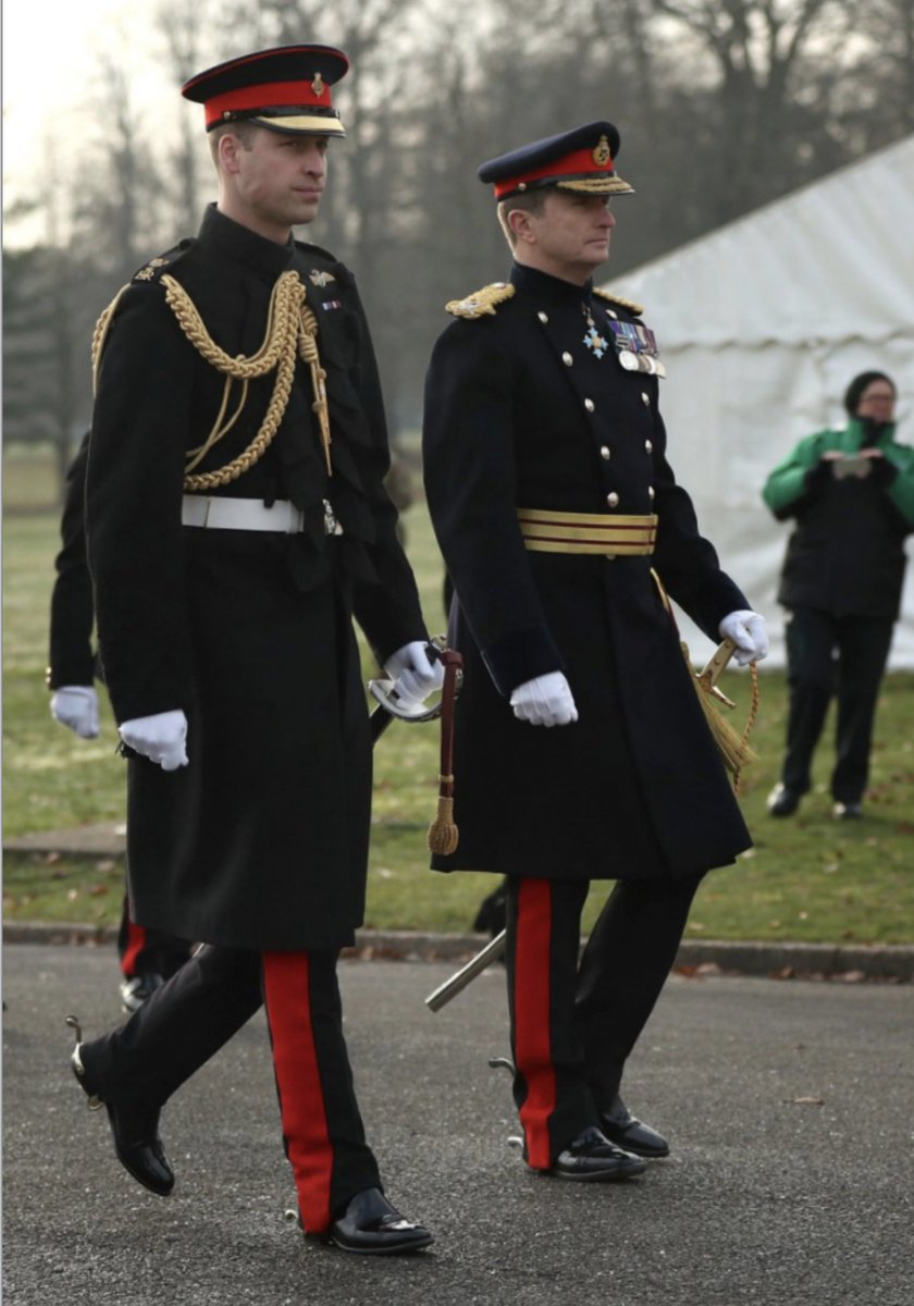 The Duke of Cambridge (left) represents the Queen as the Reviewing Officer at The Sovereigns Parade at Royal Military Academy Sandhurst in Camberley. Pix by Jonathan Brady/ @PA