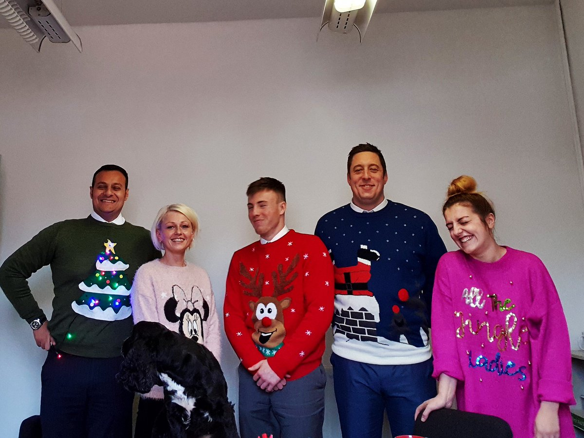 @PlayGemRadio Here at Synergy Personnel, we are rocking the Christmas Jumpers!!