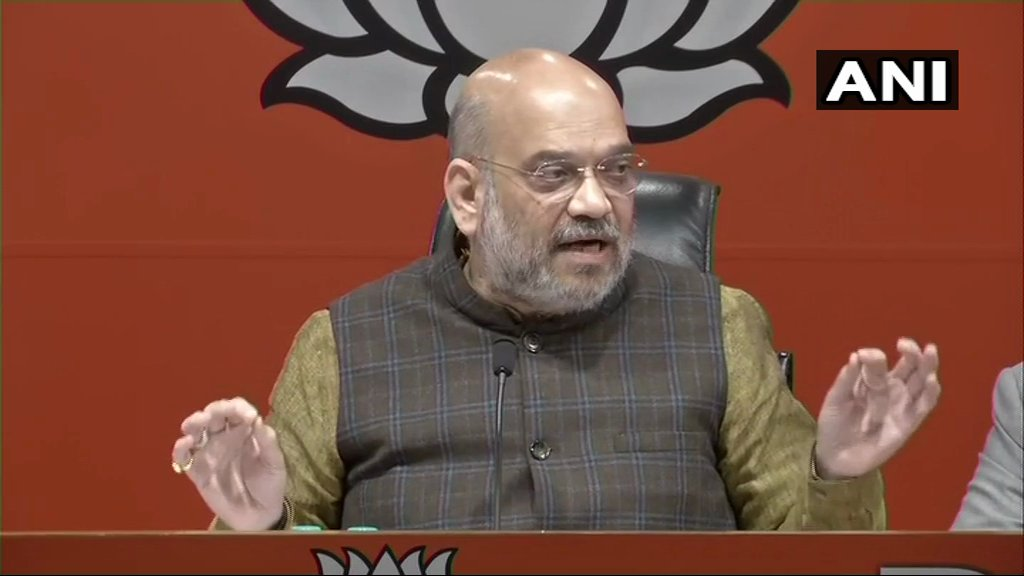 BJP President Amit Shah: Rahul Gandhi ji should apologize to the nation for misleading people. Want to ask Rahul ji what was the source of information on basis of which he made such big allegations? #RafaleDeal