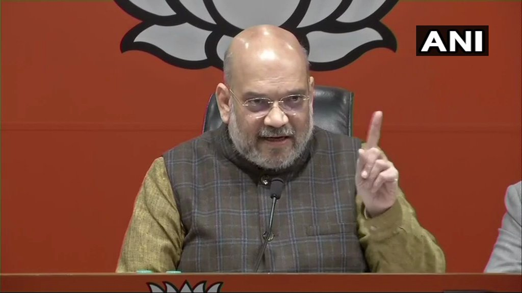 BJP President Amit Shah: If Congress had all the proof then why did they not go to the Supreme Court with it? Their B team was already there. JPC is formed only when there is a discussion in the house(Parliament), I challenge Congress for a discussion on it #RafaleDeal