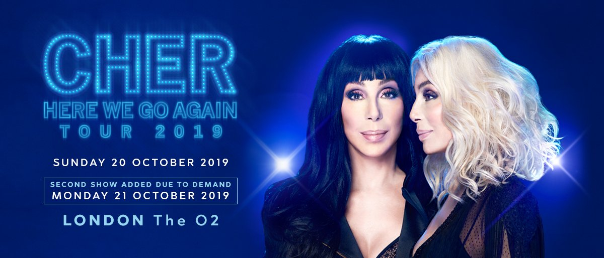 All of your @cher prayers have been answered 😍 A second date has been added on 21 October 2019. Tickets on sale at 10am. https://t.co/msd6d00H4E