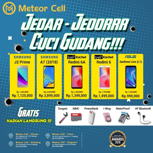 Harga Hp Di Meteor Cell Malang 2020 Data Hp Terbaru