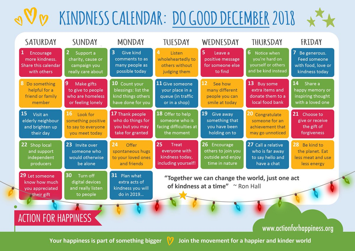 December Kindness - Day 14: Share a happy memory or inspiring thought with a loved one https://t.co/Cu8yrtfCZk #DoGoodDecember