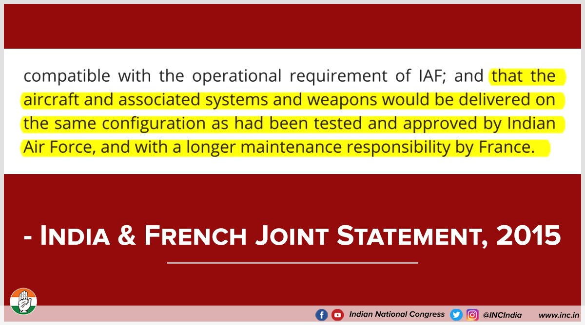 Three pertinent questions on th #RafaleScame  still remain unanswered:   (1/3) If the specification of the Rafale jets are the same as those under the UPA deal, why was there a 300% rise in the price of each aircraft? #JPCforRafaleScam