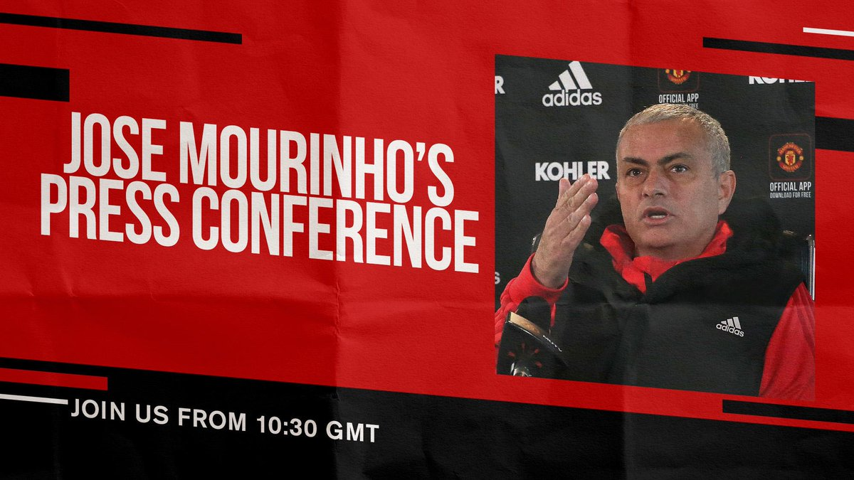 The boss will address the media later this morning, ahead of Sunday's trip to Anfield. #MUFC