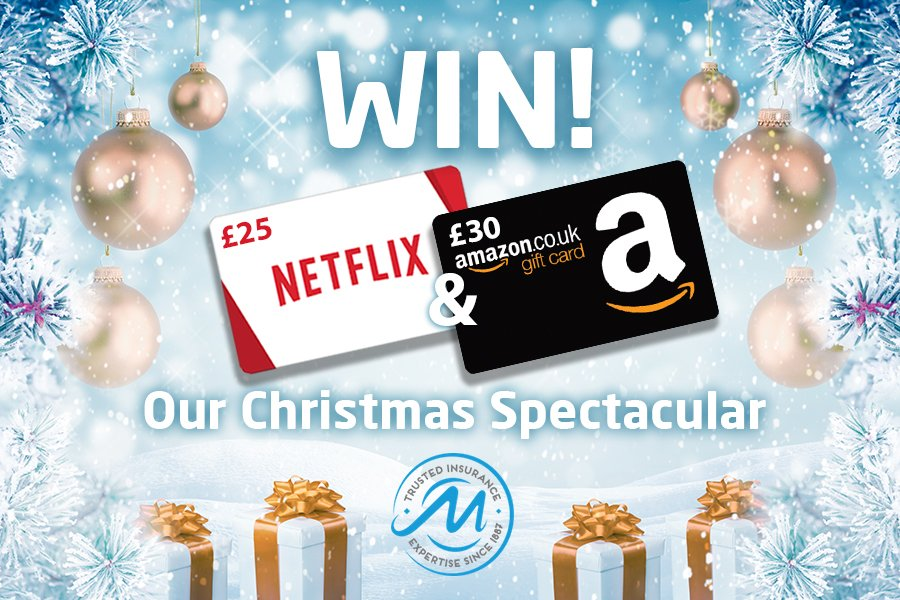 CHRISTMAS #COMPETITION TIME  We&#39;re giving you the chance to #WIN a £25 #Netflix Voucher AND a £30 #Amazon Voucher! A PRIZE TOTAL OF £55   ENTER: #FOLLOW, #LIKE &amp; #RT, Send us a picture of your #ChristmasTree! Good luck!   #Friyay #FridayFeeling #ChristmasJumperDay<br>http://pic.twitter.com/Q6DKVyEQNO