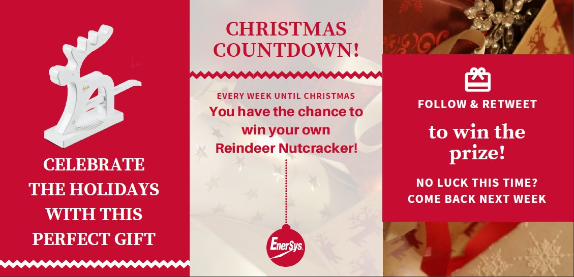 Giveaway Alert! Want to win a reindeer?   Simply #follow @EnerSysEMEA and #RT   #ChristmasGiveaway #follow #retweet #share #ENTER #WIN #friyay  #FridayFeeling #efoam #RTtoWin #WinIt #FreebieFriday #Competition  #ChristmasCountdown<br>http://pic.twitter.com/r57z4o1BbL