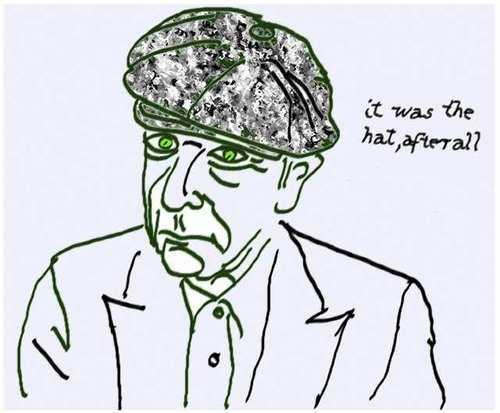 &quot;It Was the Hat&quot; Leonard Cohen <br>http://pic.twitter.com/v3b6So1q5W