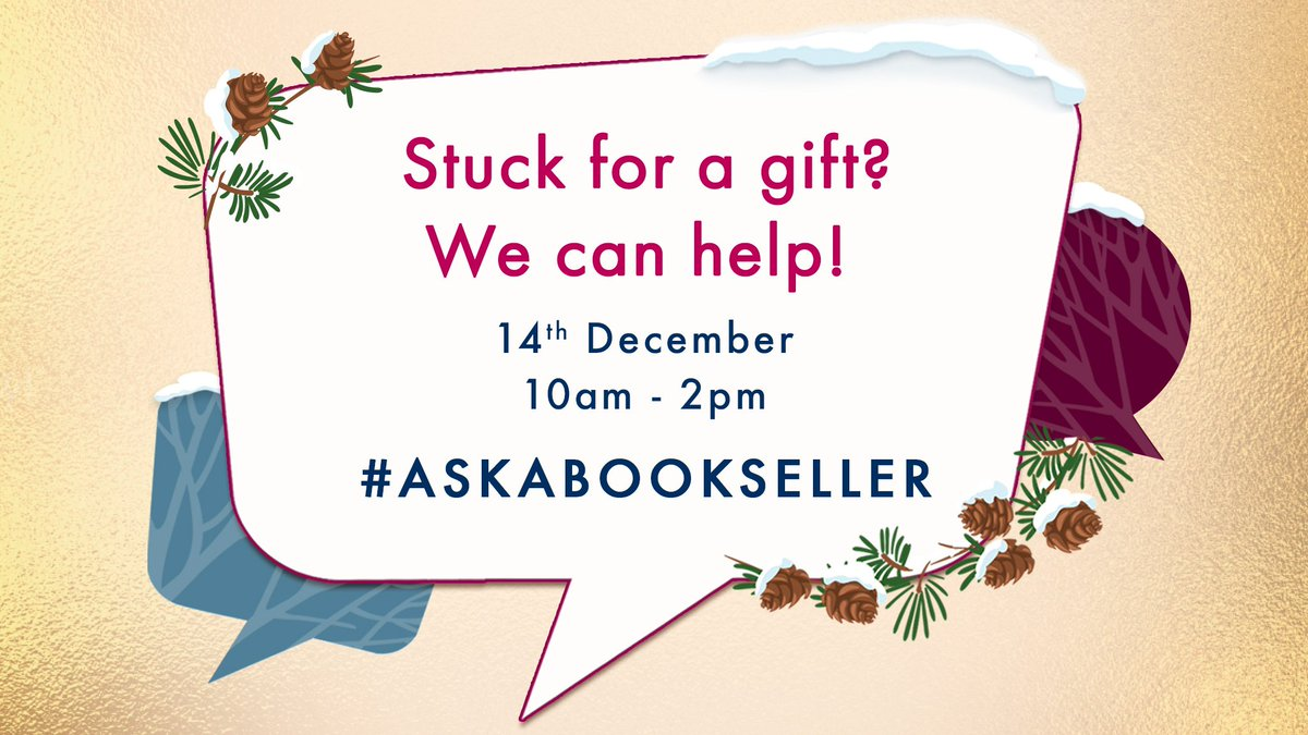 Finding the perfect gift at Christmas can sometimes be tricky but getting it right can make all the difference. Were here to help you become a Christmas Gift Hero so #AskABookseller from 10am-2pm today.