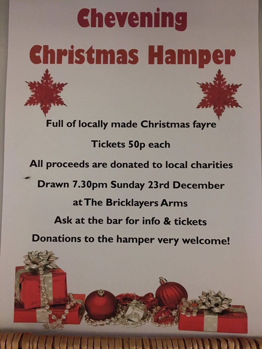 If you would like to donate something homemade or buy a raffle ticket please pop in. #christmasraffle #hamper… https://t.co/e0L4zUv3m7""