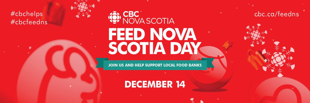 Good morning! Come on down and join us for CBC Feed Nova Scotia Day as we celebrate the season and raise funds and collect food in support of Feed Nova Scotia. We'll have coffee, stories and plenty of music with The Sanctified Brothers at 6940 Mumford Rd. #cbcfeedns