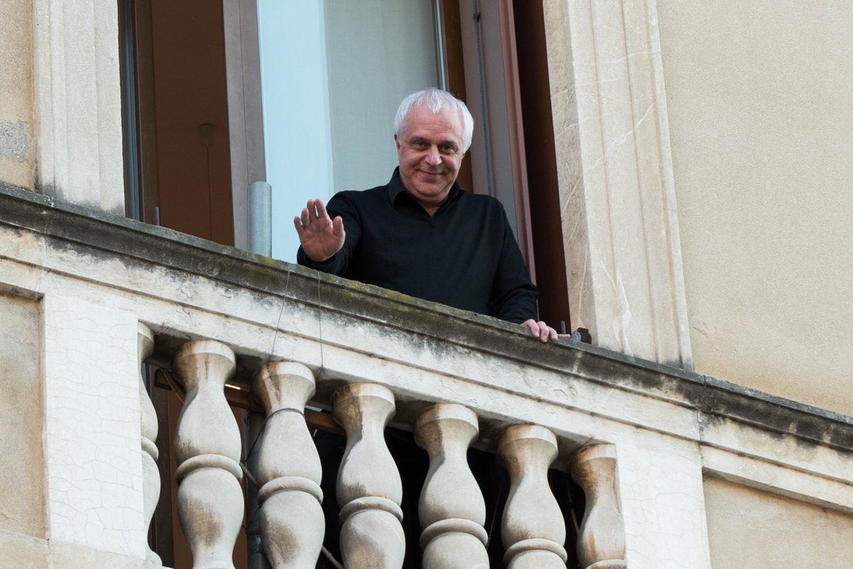 #Vicenza, il saluto dal balcone del «nostalgico»...