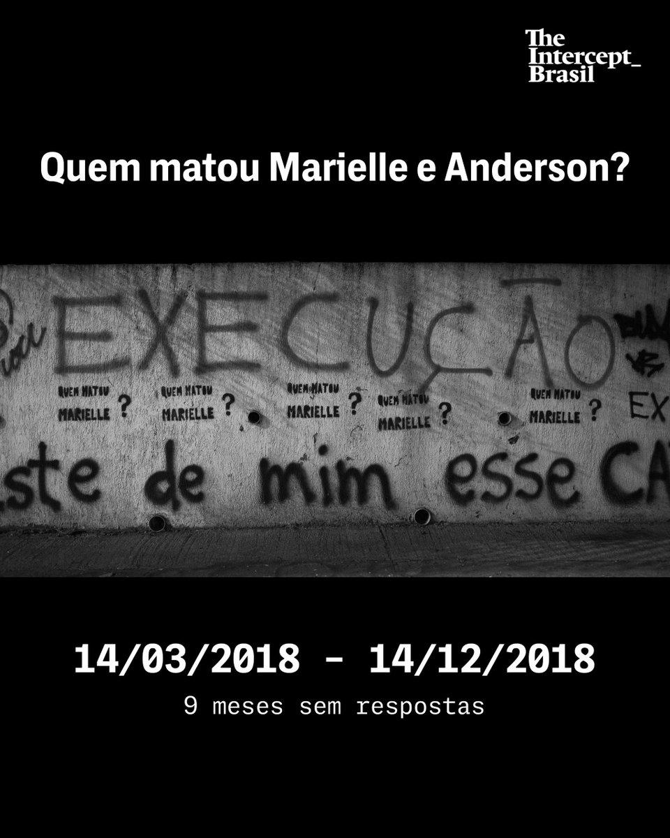 Há 9 meses, Marielle Franco virou um símbolo internacional.  Perguntamos quem matou Marielle e Anderson desde 14 de março. Relembre os casos denunciados pela vereadora dias antes de ser executada: https://t.co/Qaj6xCQ4Jy #MariellePresente #EuApoioIntercept