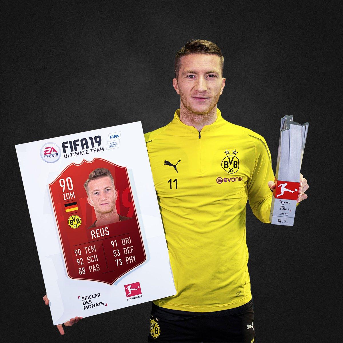 Der #BundesligaPOTM November steht fest. Es ist zum zweiten Mal @woodyinho 🏆🏆! Herzlichen Glückwunsch! 🎉 #FUT #POTM #FIFA19 @Bundesliga_DE @BVB