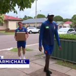 As rugby league lurches from scandal to scandal there are many good deeds worth sharing. The @NRLKnights' community work has put a star recruit in his element and allowed us to tell a story that's long overdue. @MattCarmichael #NRL #7News