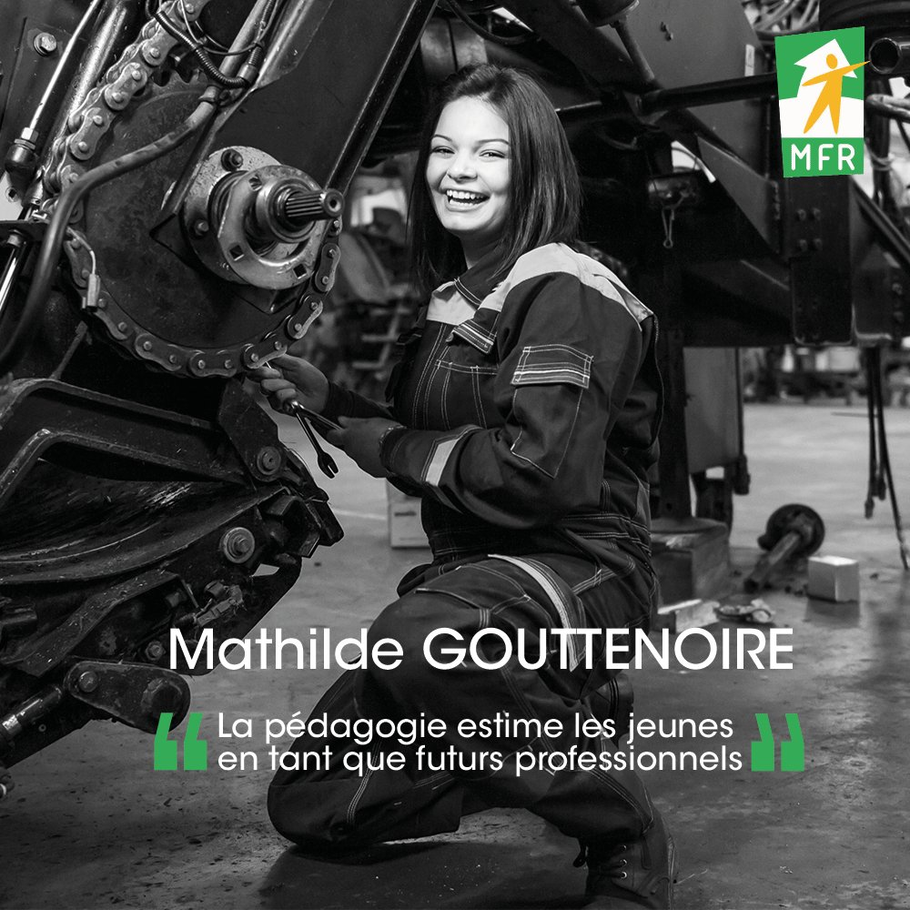 Ambassadrice MFR : Mathilde GOUTTENOIRE, Miss Agri 2018 ! #Passionnée par la technique et la mécanique agricole, elle a été formée dans les#MFR et a reçu de nombreuses récompenses dans le domaine. #FierdemaMFR #Métiersagricoles #Métierpassion #Alternance https://t.co/aLqXlW2Lpw