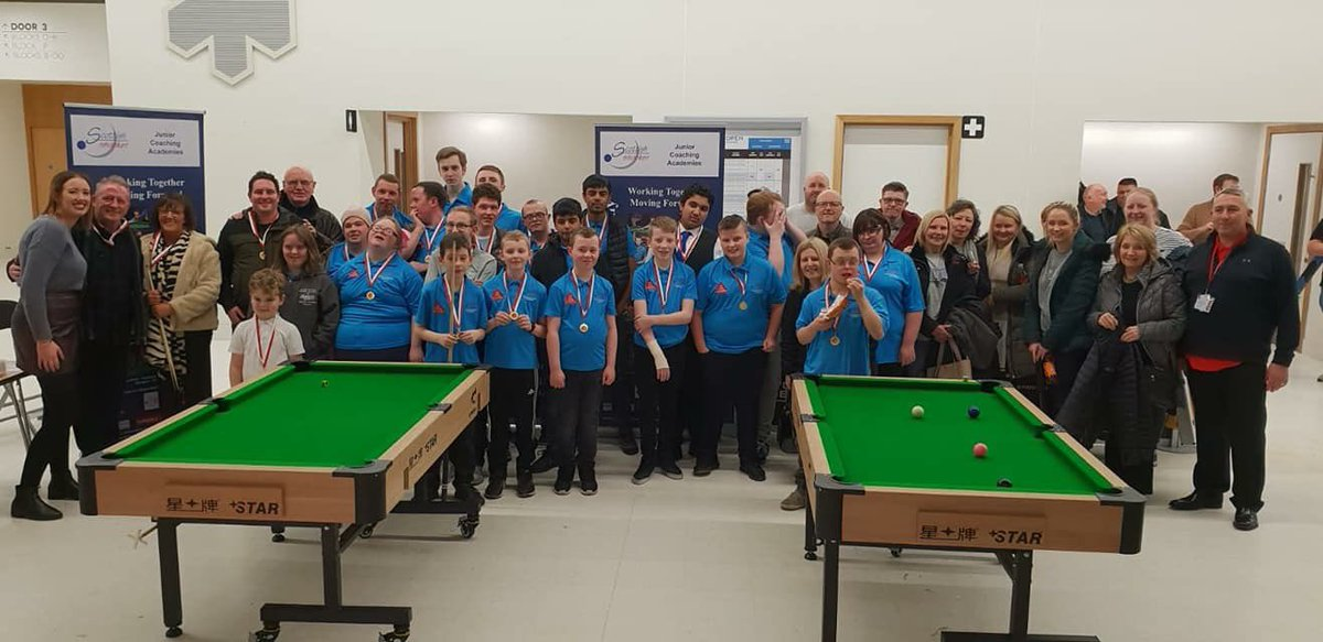 Scottish Snooker Junior/Disability Academies @ Minnesota Fats ,great to see both our academies at the Scottish Open on Wed to watch the snooker, big thanks to World Snooker and Scottish Snooker for organising free tickets for parents and careers @WPBSAofficial @ScottishSnooker