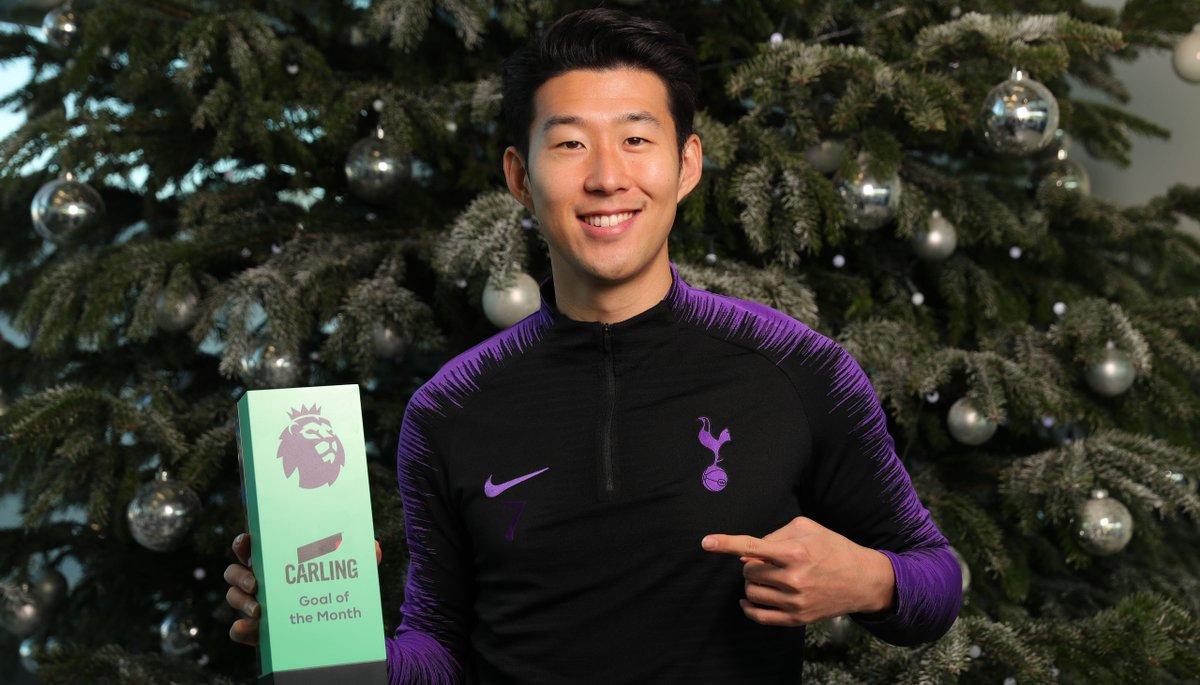 Sonny has won November's @premierleague Goal of the Month award! 🏆🙌  #COYS