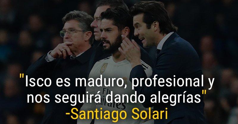 ⏱🏟 Minutos de Isco en el Real Madrid:  😎Con Julen Lopetegui 70% 🤯Con Santiago Solari 32%  #HalaMadrid| #RMLiga