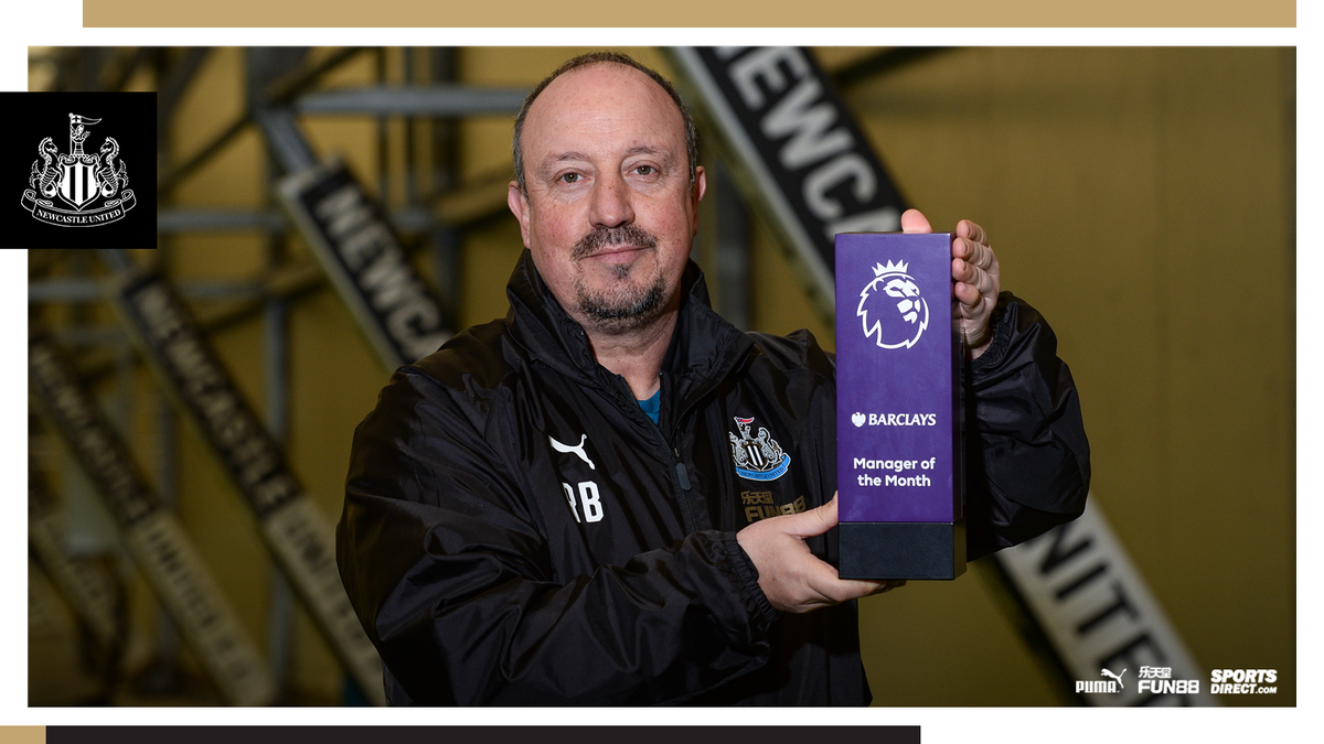 Congratulations to @rafabenitezweb, who has been named the @premierleague's Barclays Manager of the Month for November!   Full story: https://t.co/54xy9QmnFT #NUFC