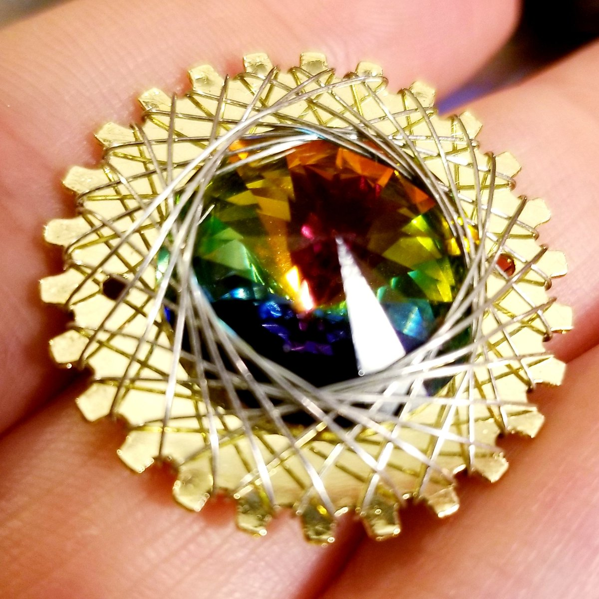 Ive also got this Ive been playing with... brass & silver + rainbow crystal.