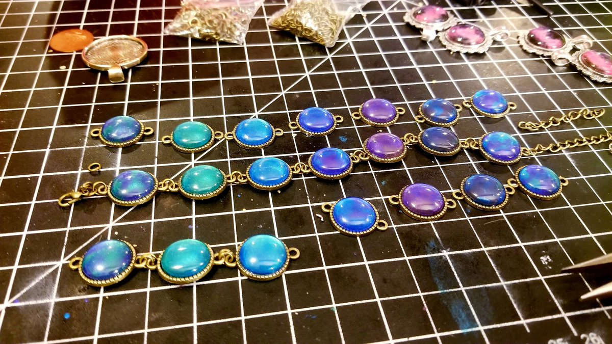 Sold out of these, so Im assembling to send out! I will definitely do more mermaid inspired bracelets. 😍