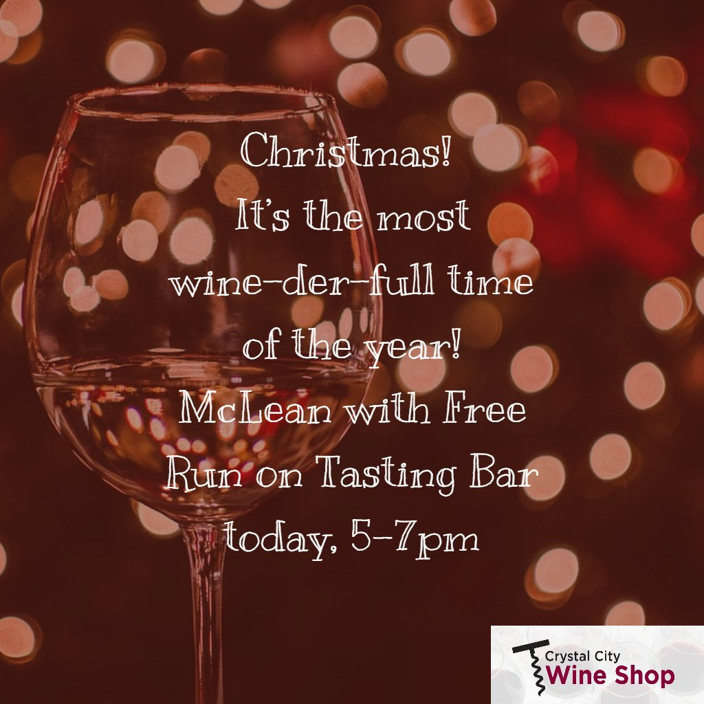 Wine Christmas Puns.Crystal City Wine On Twitter Today 5 7p With Duomispeak