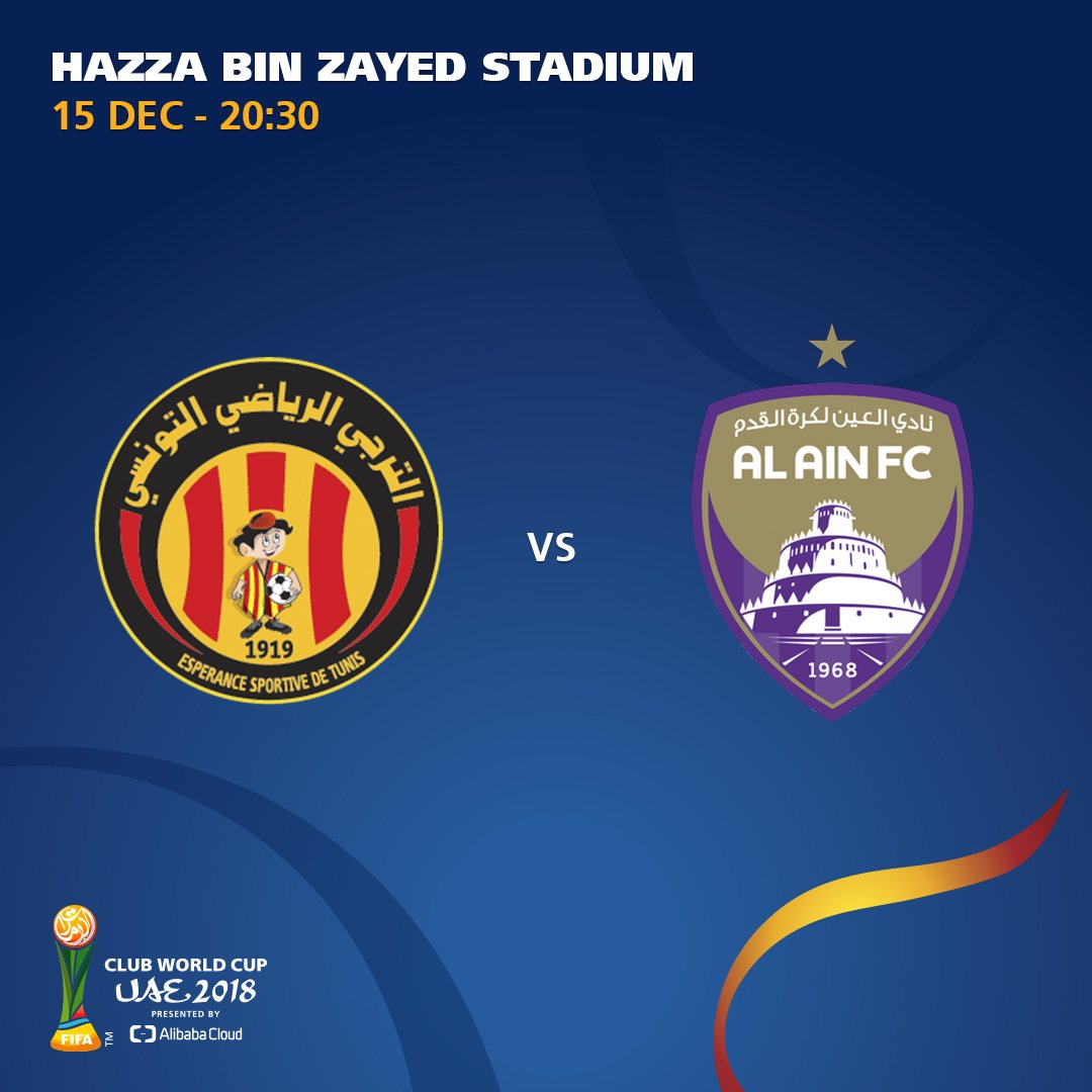 ⌛️ ONE HOUR TILL KO  🇹🇳@ESTuniscom 🆚 @alainfcae_en🇦🇪 is the second #ClubWC match-up of the day 👌  How do you see this one going? 🤔