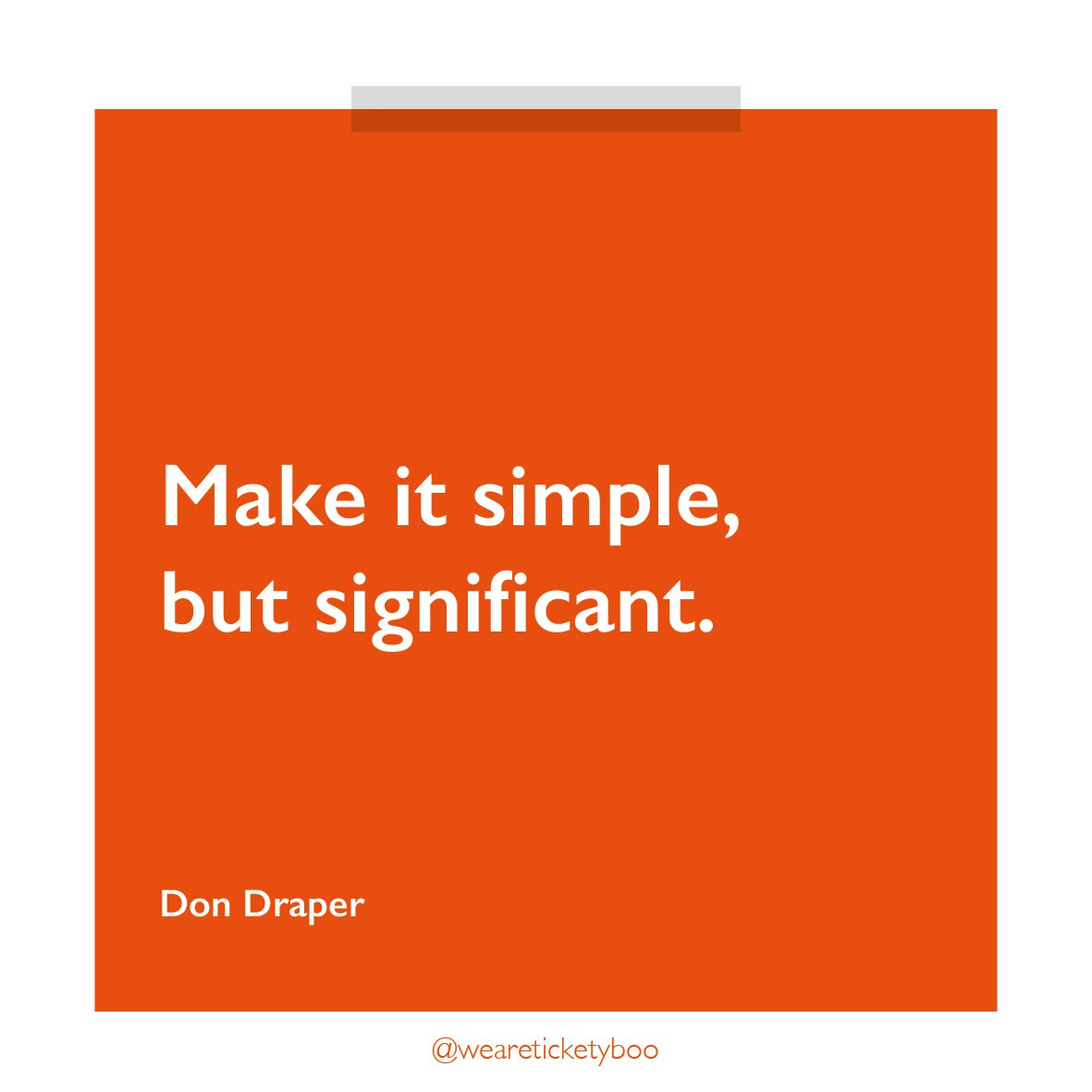 The wise words of Don Draper  #design #advertising #topquotes <br>http://pic.twitter.com/X9yJ35L5nc