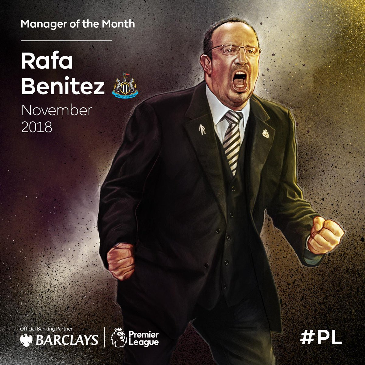 3️⃣ matches 3️⃣ victories  @NUFC boss @rafabenitezweb is the @BarclaysFooty #PL Manager of the Month for November ⚫️⚪️  #PLAwardsAwards