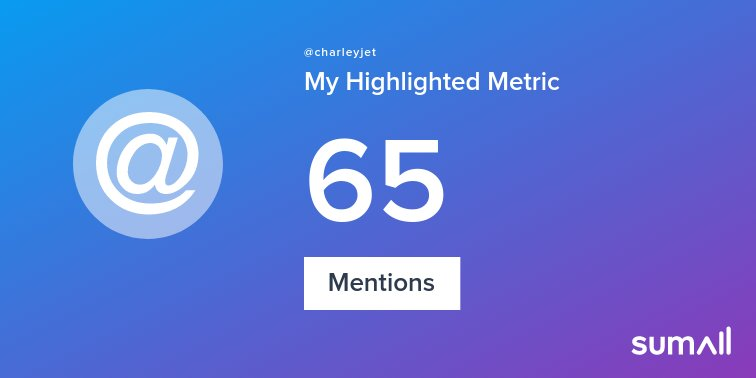 My week on Twitter 🎉: 65 Mentions, 1 New Follower. See yours with https://t.co/z0OiOqAO9u https://t.co/omnRCK1TjU