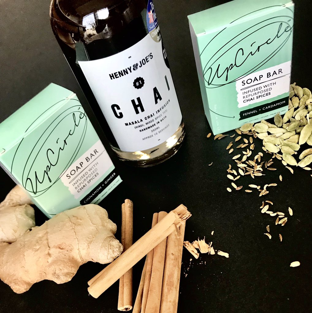Simply F&RT to be in with a chance of winning! Day 6 of #12daysofchai and we're giving away a bottle of our masala chai and these soaps made by the awesome @upcirclebeauty These soaps are made from our old chai spices! #reducereuserecycle The winner will be announced tomorrow