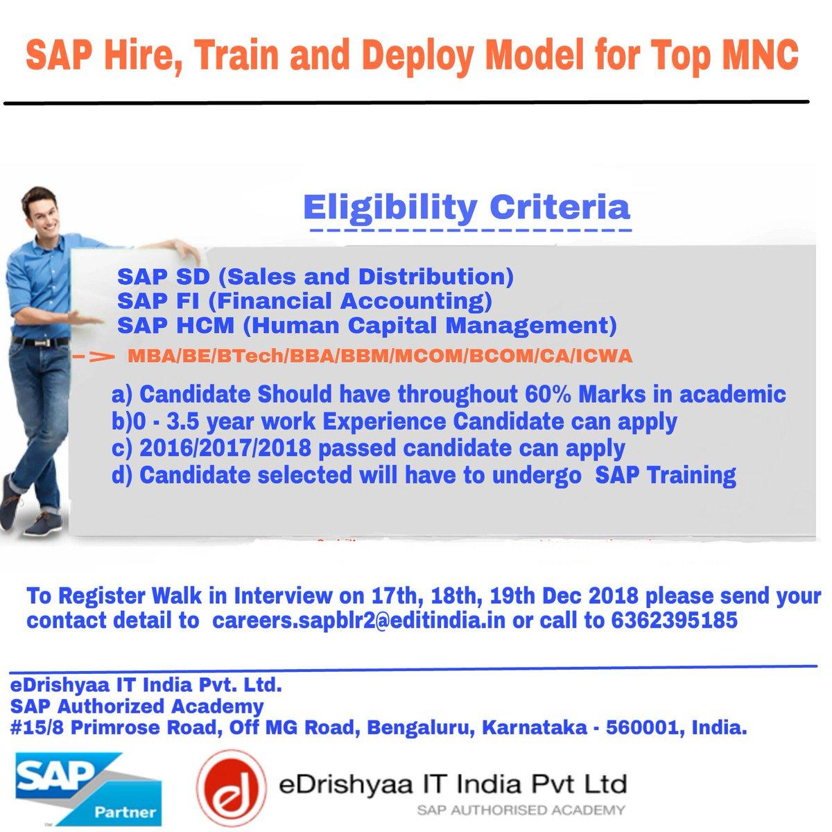 eDrishyaa SAP Academy @ Bangalore & Coimbatore on Twitter: