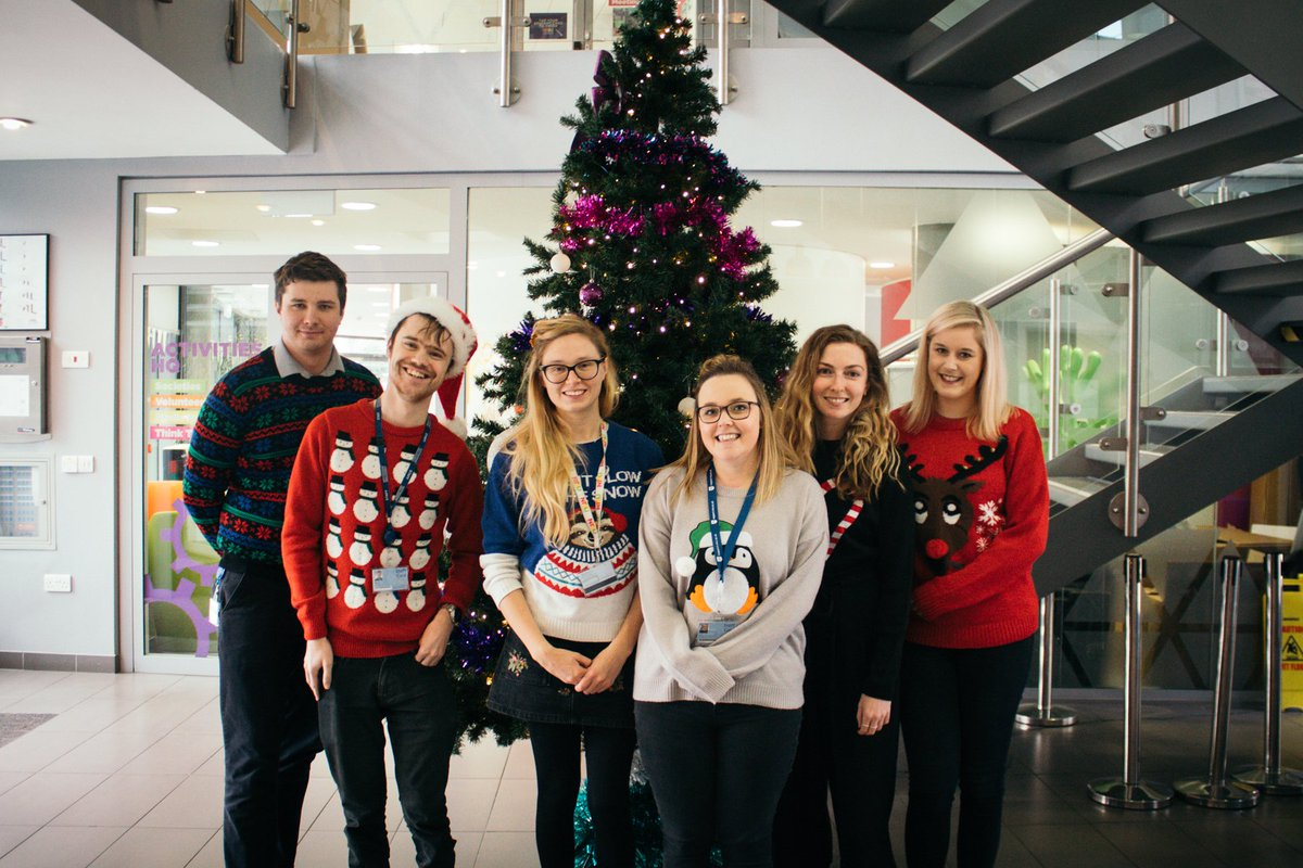 The NTSU team in their festive best for charity! @PlayGemRadio @CashforKidsGem