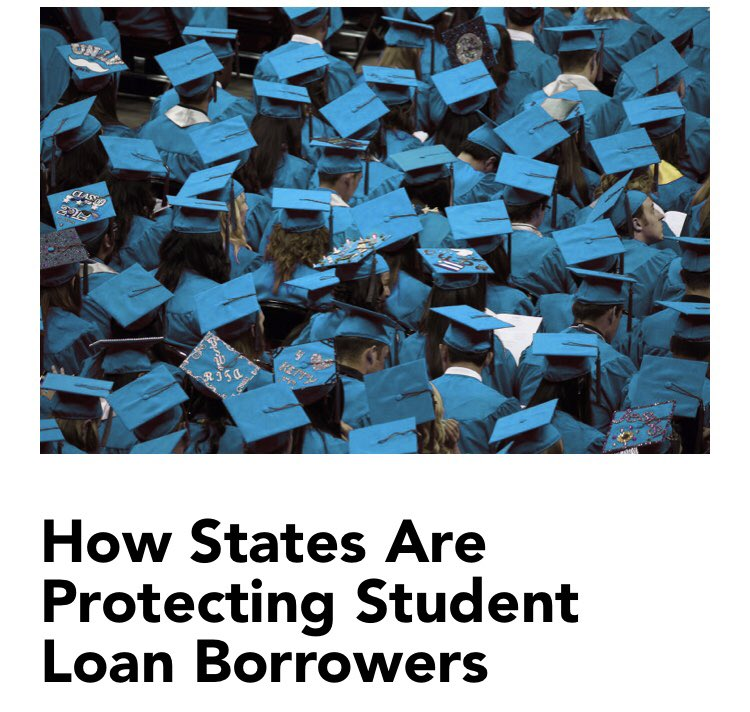 What can be done to prevent predatory lending and student loan repayment practices? While the federal Department of Education believes that it has no jurisdiction in this matter, states are starting to take action. https://t.co/FmDg1O9cR1