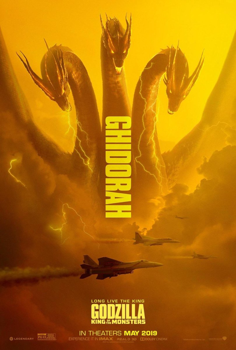 Ghidorah, Rodan, and Mothra are coming for the crown #GodzillaMovie