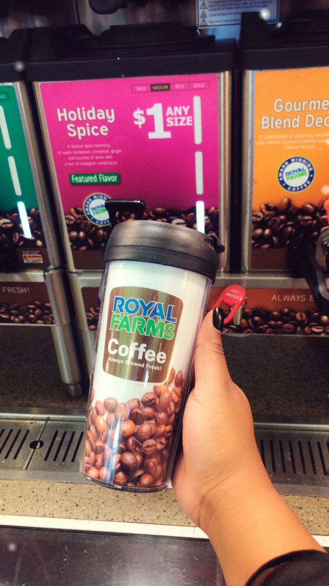 Royal Farms On Twitter Keep Your Hot Beverages Hot With A Free Rofo Tumbler We Recommend The Holiday Blend While You Re There Pick Up Your Free Royal Farms Tumbler From